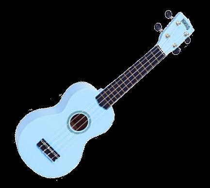 Blue ukulele